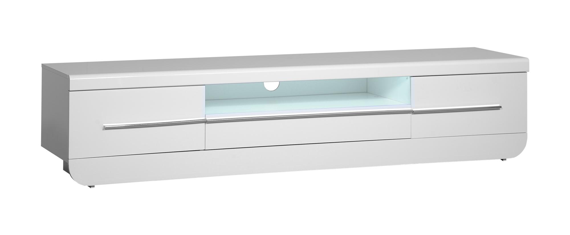 design tv hifi ablage unterschrank lowboard led mod sc072 weiss hochglanz lack ebay. Black Bedroom Furniture Sets. Home Design Ideas