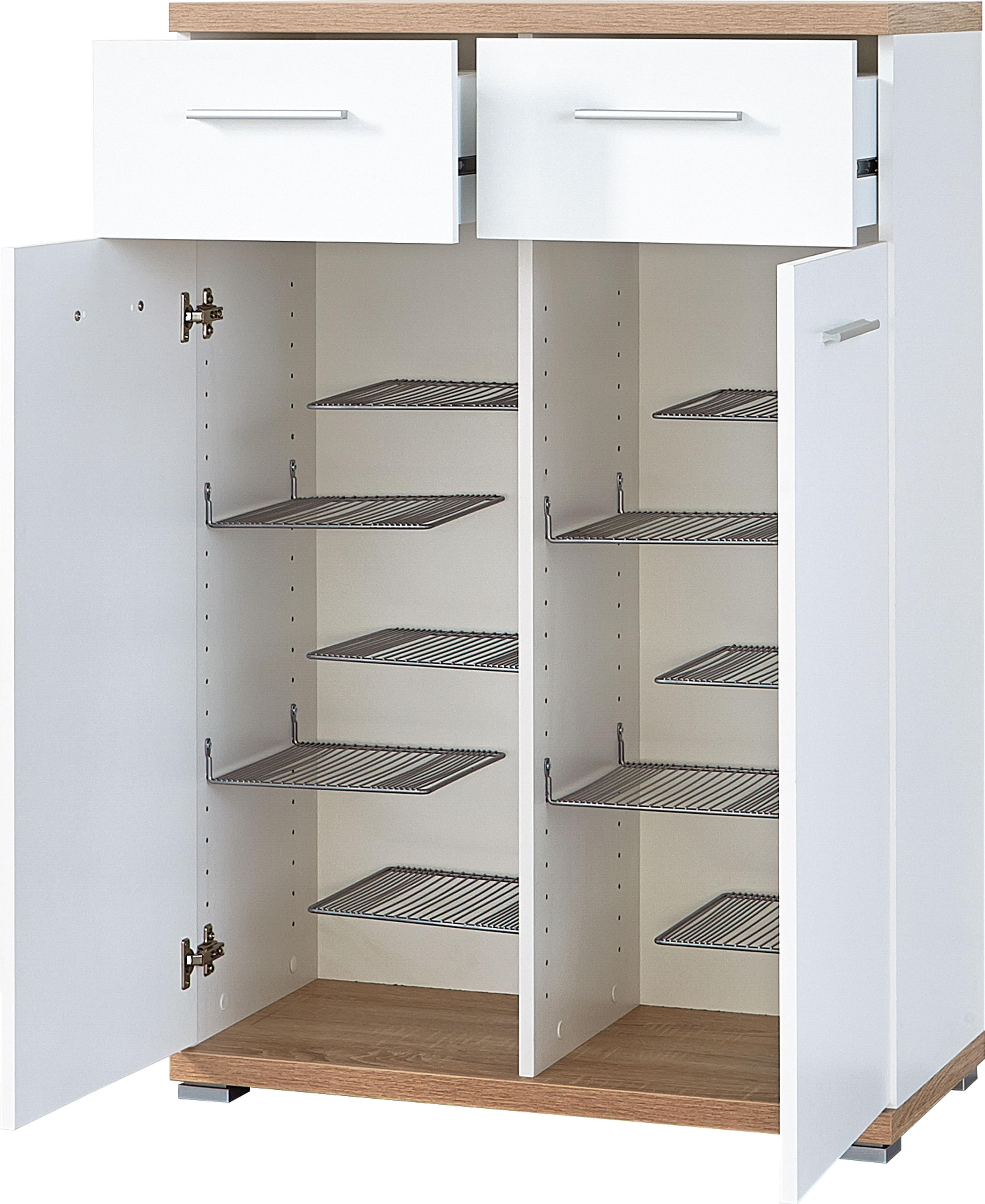 schuhschrank schuhkommode schuhregal ablage mod gm720 weiss sonoma eiche ebay. Black Bedroom Furniture Sets. Home Design Ideas