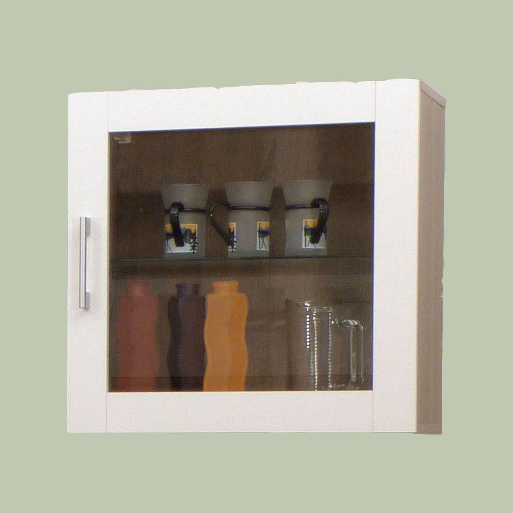 h ngeschrank wandschrank wandregal t r regal sonoma eiche weiss glas mod r477 ebay. Black Bedroom Furniture Sets. Home Design Ideas
