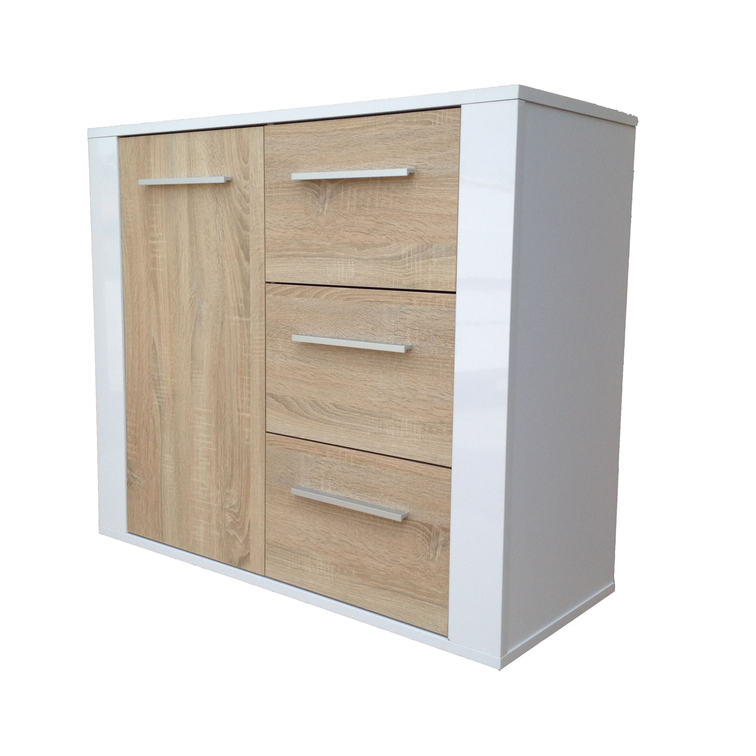 kommode mehrzweckkommode aktenschrank schrank mod k449 weiss hochglanz eiche ebay. Black Bedroom Furniture Sets. Home Design Ideas
