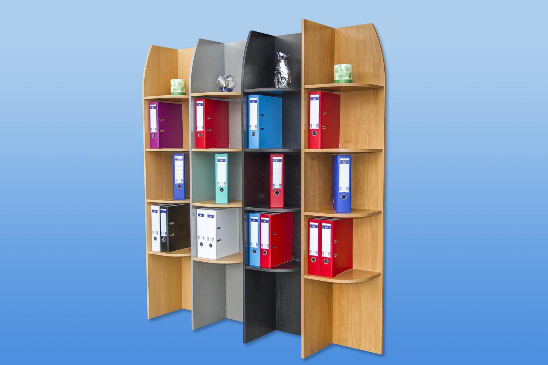 eckregal standregal regal aktenregal mod r466 buche alu schwarz erle ebay. Black Bedroom Furniture Sets. Home Design Ideas