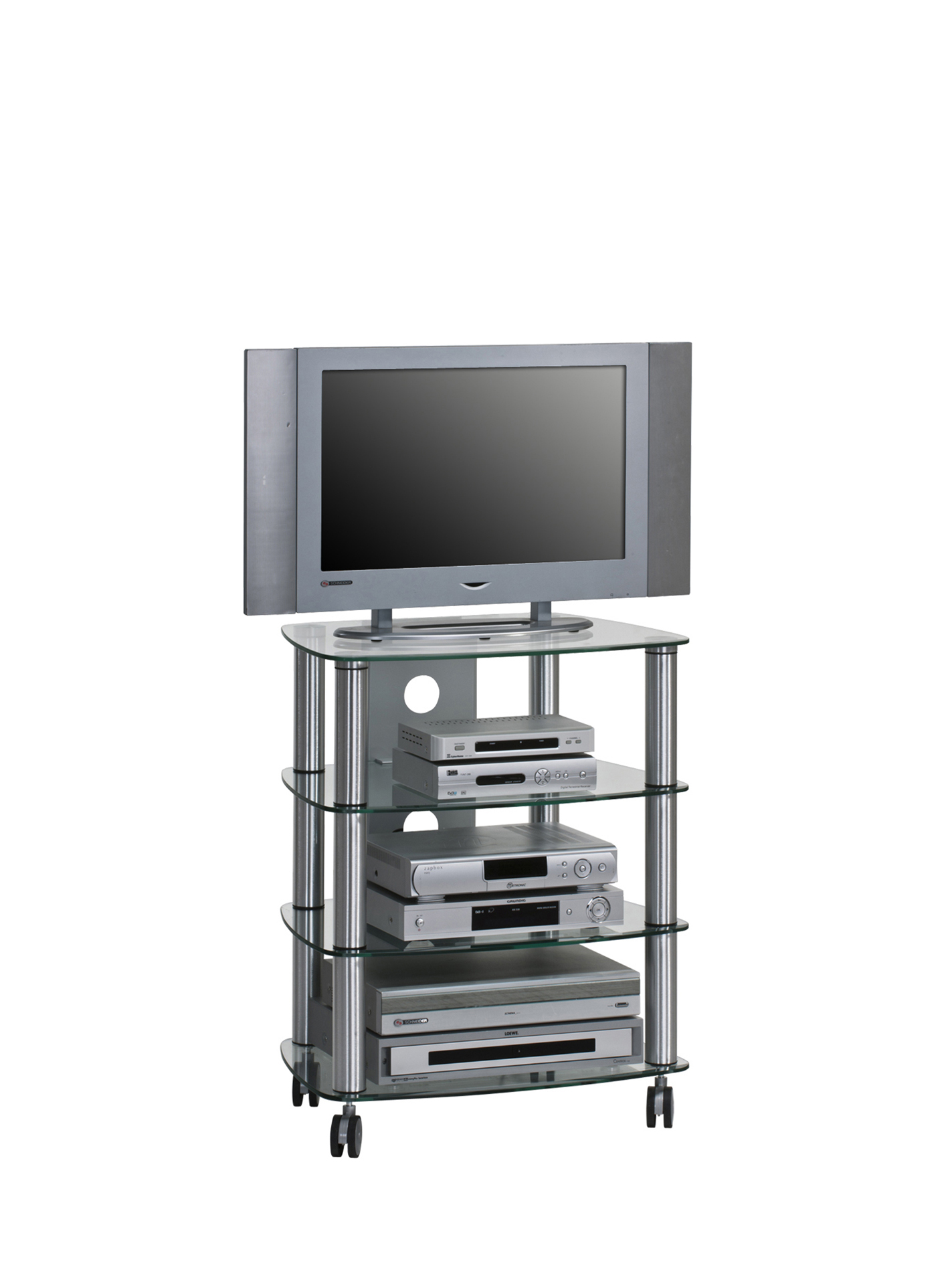 tv und hifi rack tv board glastisch design mod mj039 metall alu ebay. Black Bedroom Furniture Sets. Home Design Ideas