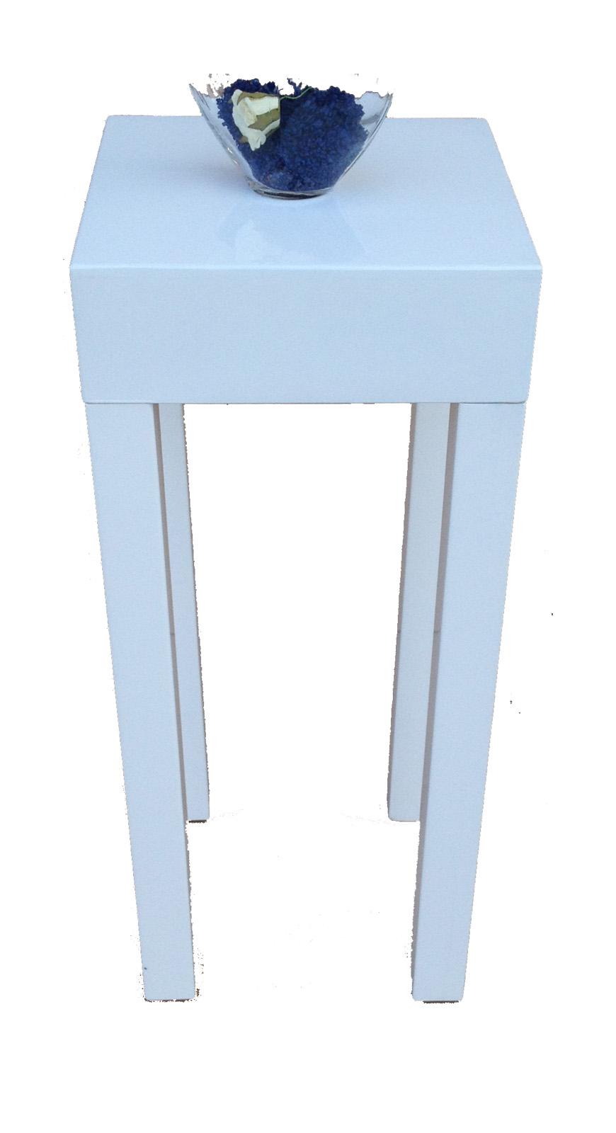 beistelltisch nachtkonsole ablage boxspringbett tisch mod t170 weiss hochglanz ebay. Black Bedroom Furniture Sets. Home Design Ideas