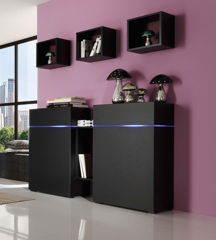 standvitrine vitrine kommode aktenschrank schrank flurkommode schwarz cs schmal ebay. Black Bedroom Furniture Sets. Home Design Ideas