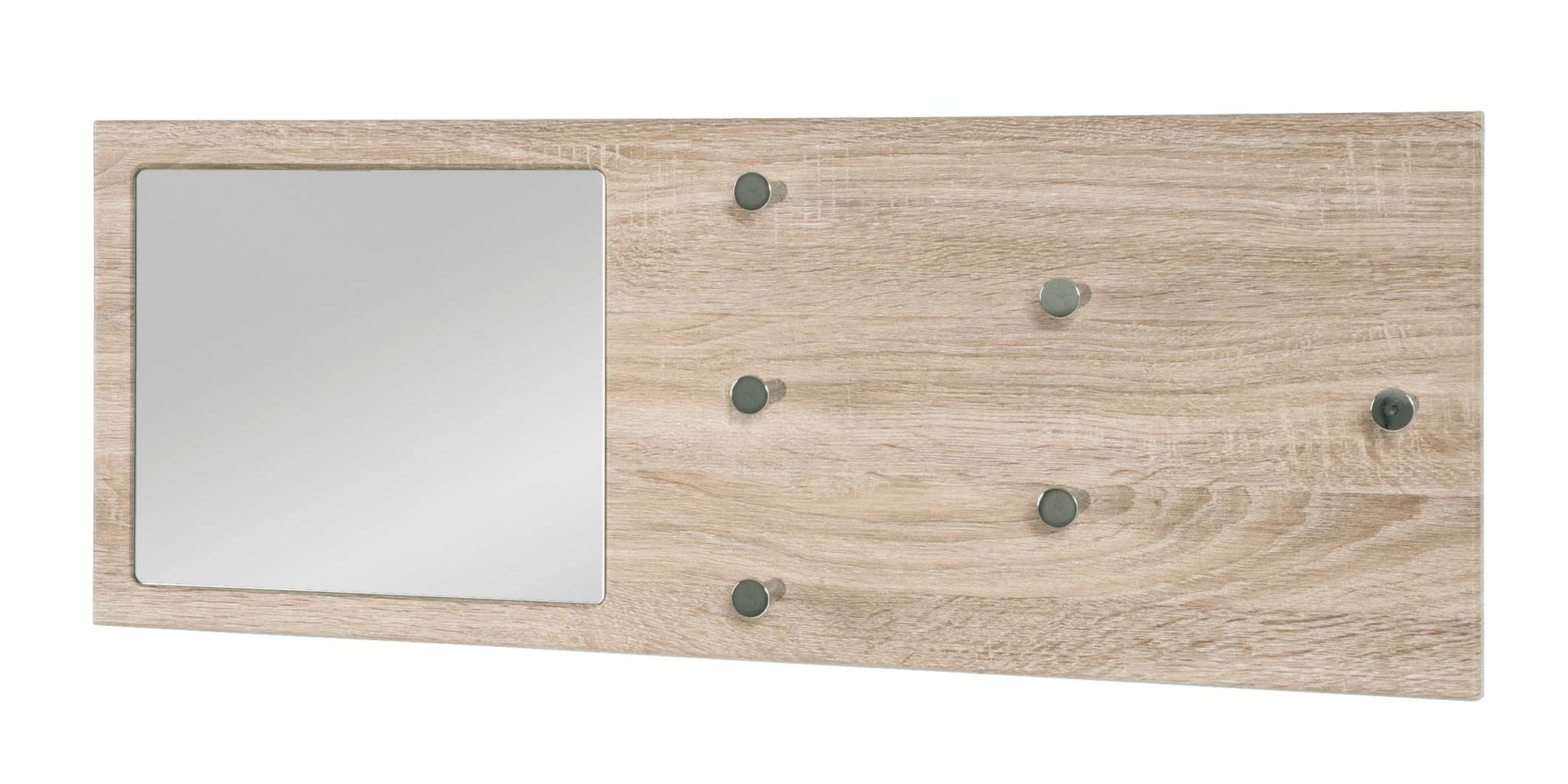 wandgarderobe garderobenpaneel garderobe mit spiegel h nge. Black Bedroom Furniture Sets. Home Design Ideas