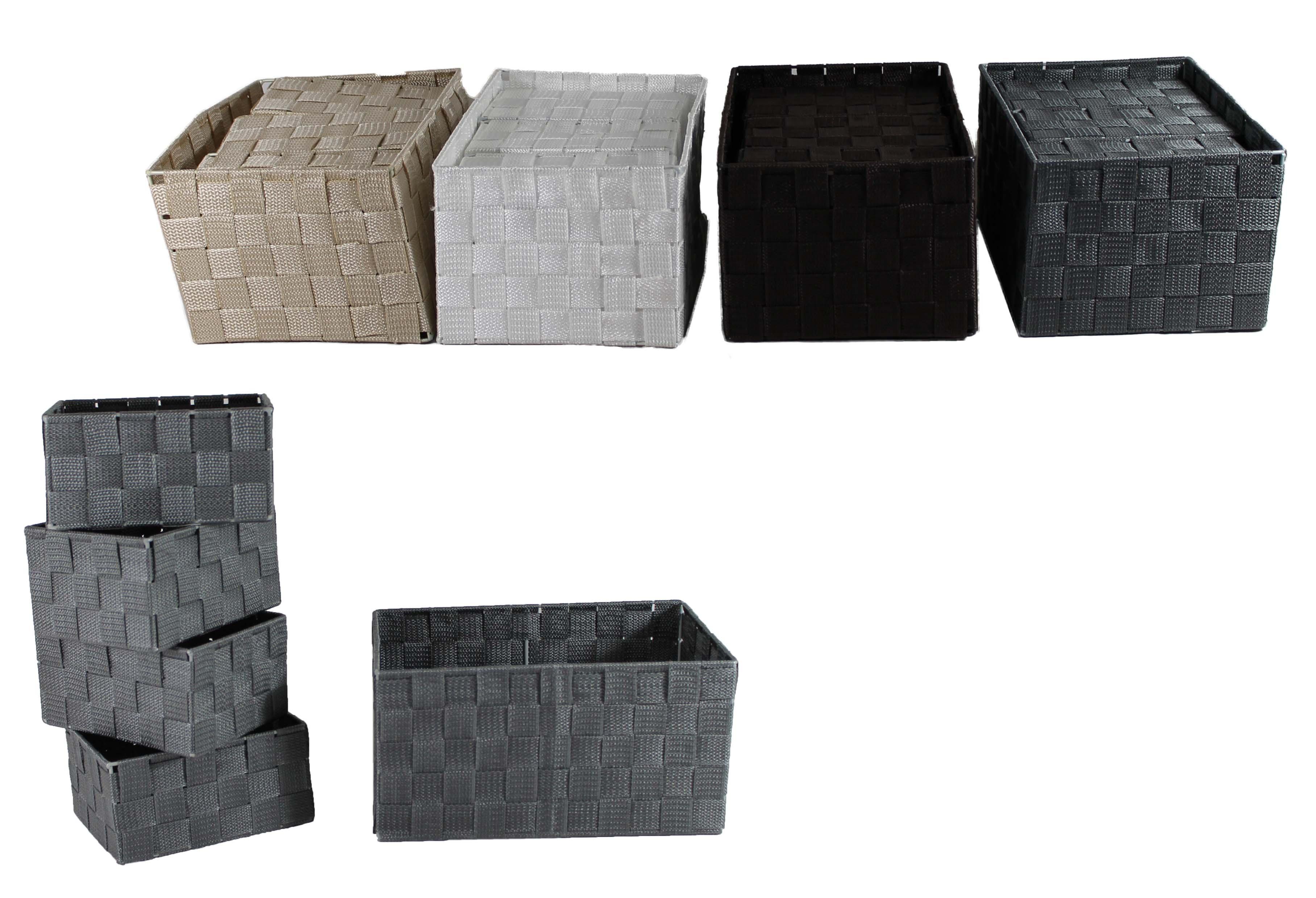 5er badezimmerkorb aufbewahrungskorb regalkorb korbset. Black Bedroom Furniture Sets. Home Design Ideas