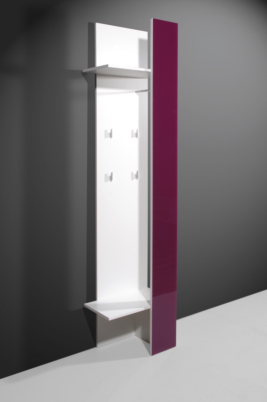 wandgarderobe garderobenpaneel garderobe flur paneel g168 weiss lila glas ebay. Black Bedroom Furniture Sets. Home Design Ideas