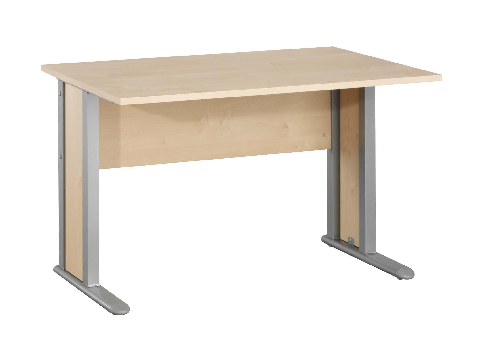 Schreibtisch arbeitstisch b rotisch mit metallf e buche for Schreibtisch arbeitstisch