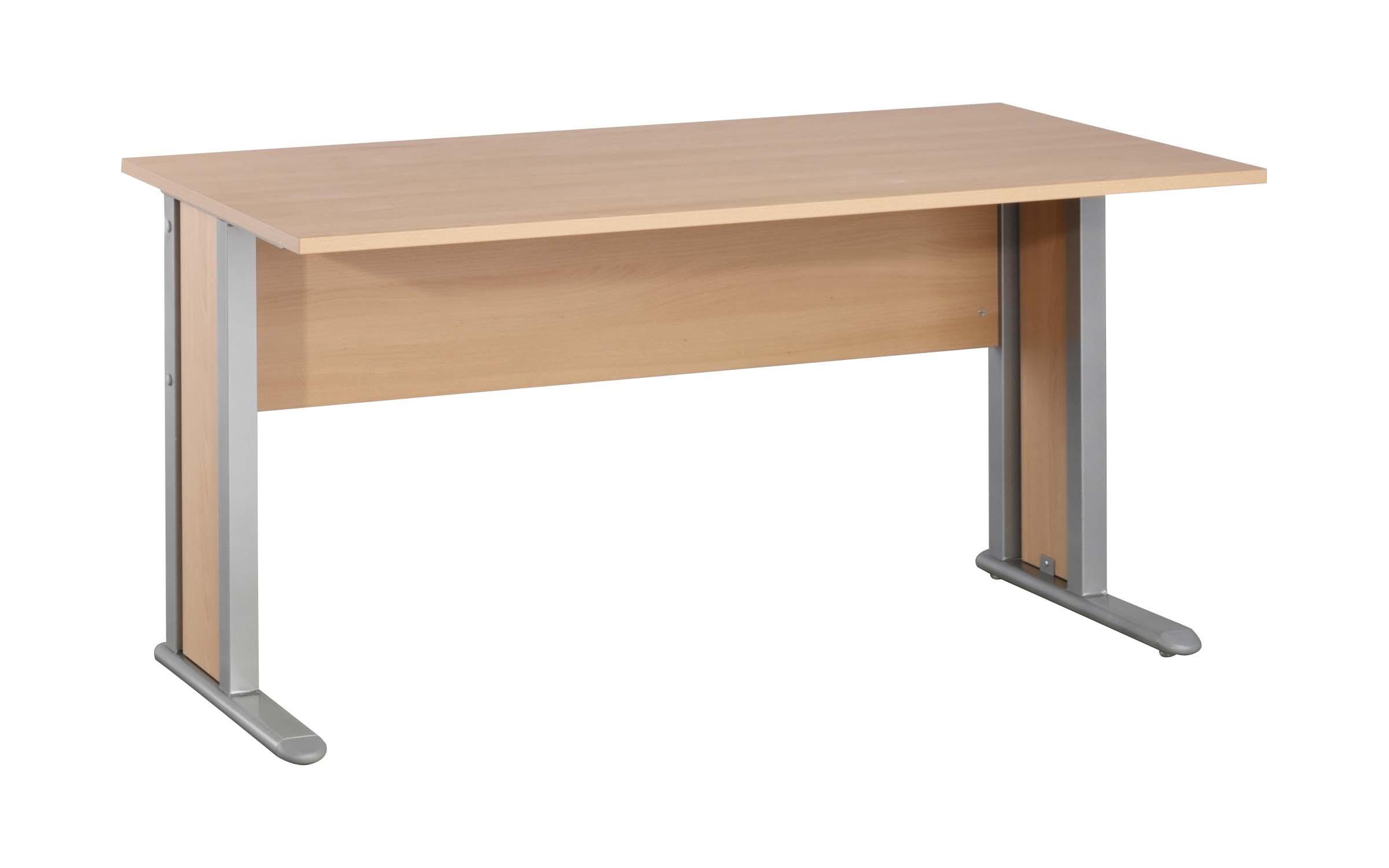 schreibtisch arbeitstisch b rotisch mit metallf e buche ahorn t183 office b ro ebay. Black Bedroom Furniture Sets. Home Design Ideas