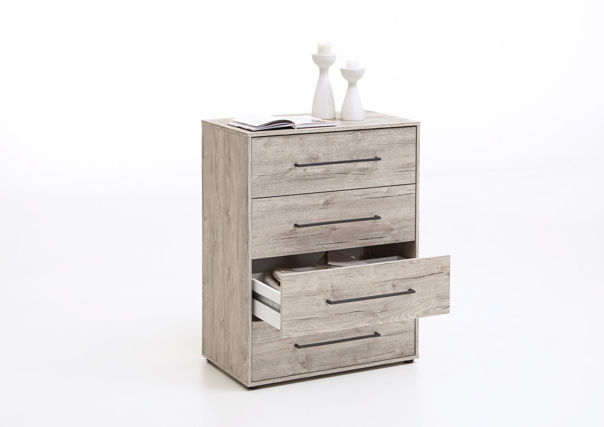 kommode schubladenkommode mehrzweckkommode sideboard anrichte schrank sandeiche ebay. Black Bedroom Furniture Sets. Home Design Ideas