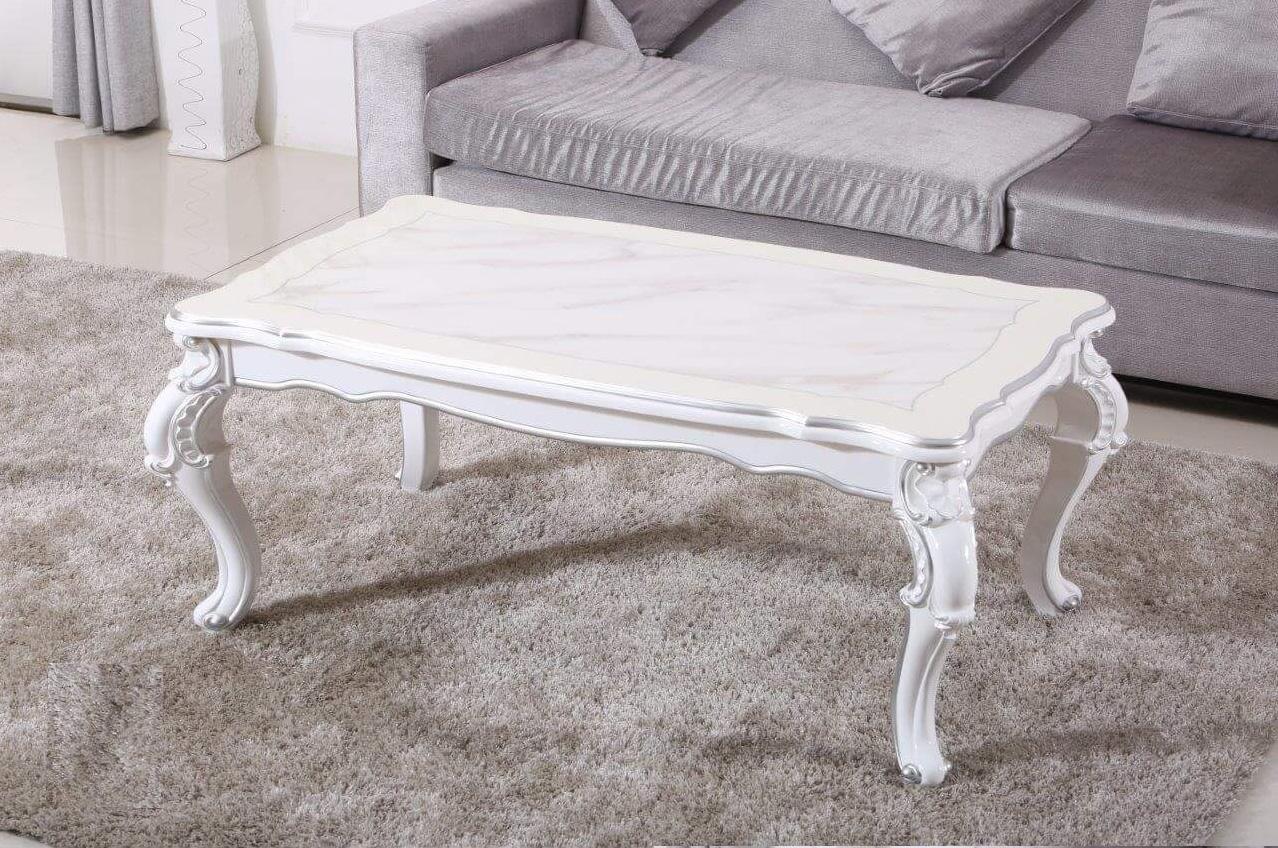 couchtisch wohnzimmertisch beistelltisch tisch barock mod et014 wei hochglanz ebay. Black Bedroom Furniture Sets. Home Design Ideas
