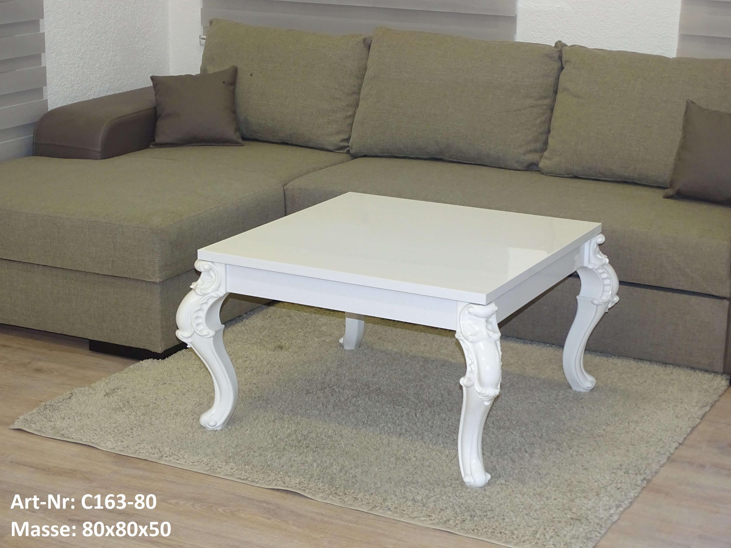 couchtisch wohnzimmertisch tisch barock stil 120 100 80 wei hochglanz ebay. Black Bedroom Furniture Sets. Home Design Ideas
