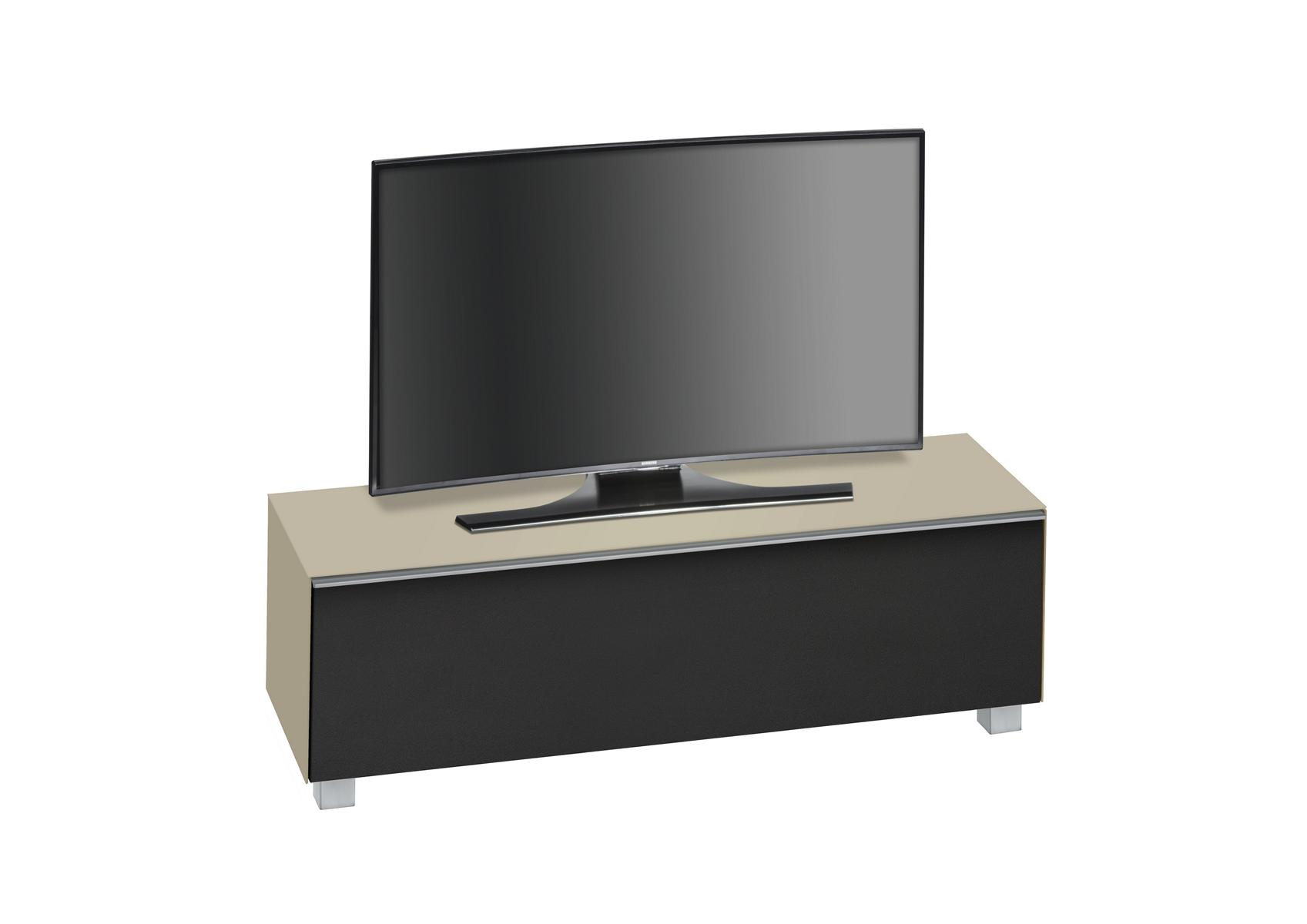 tv lowboard unterschrank fernsehschrank soundsystem mod mj336 sandglas schwarz ebay. Black Bedroom Furniture Sets. Home Design Ideas