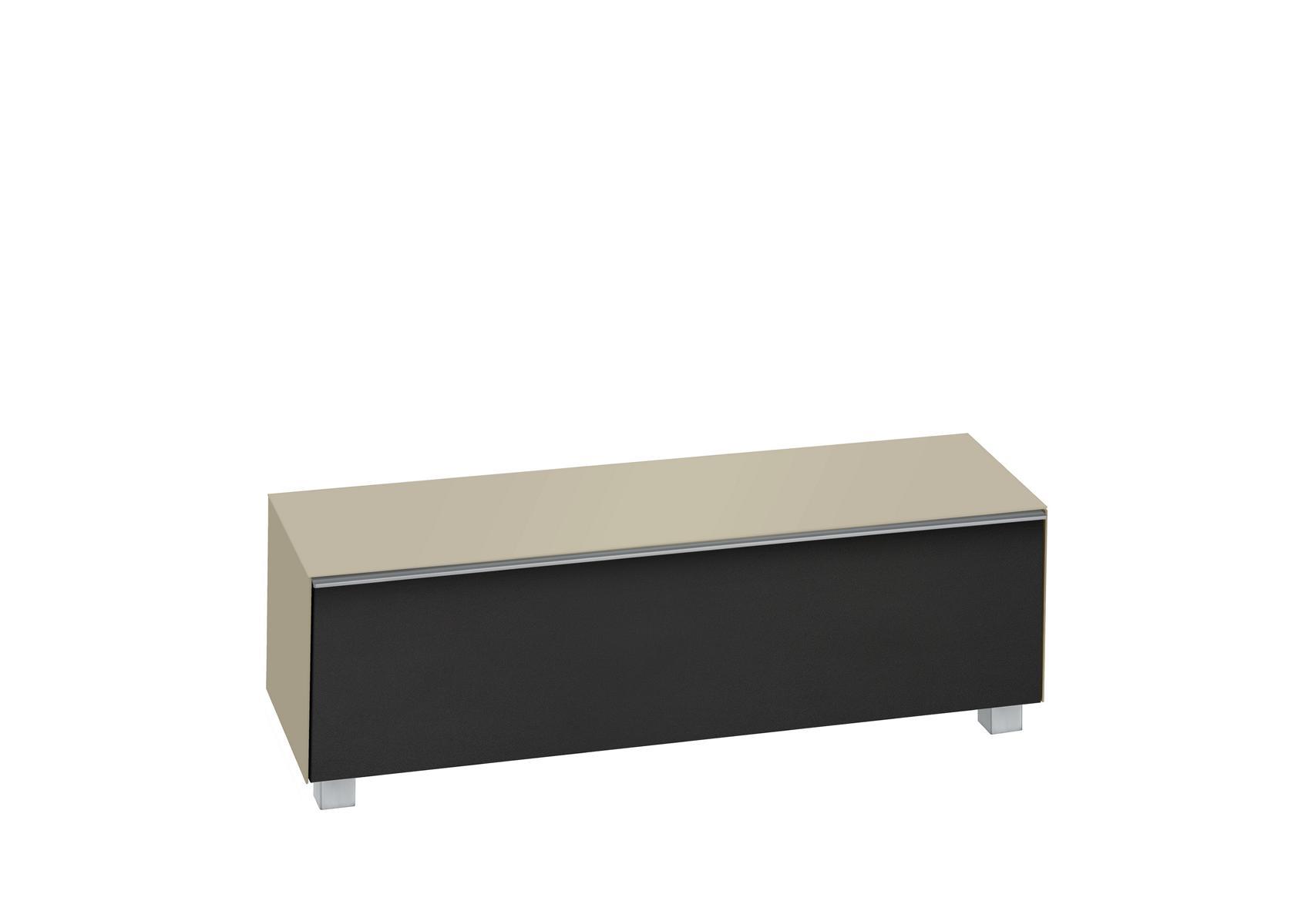 tv lowboard unterschrank fernsehschrank soundsystem mod mj336 sandglas schwarz ebay. Black Bedroom Furniture Sets. Home Design Ideas