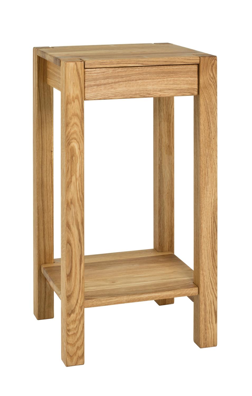 Beistelltisch-Konsole-Tisch-Ablage-Schublade-Massiv-Eiche-geoelt