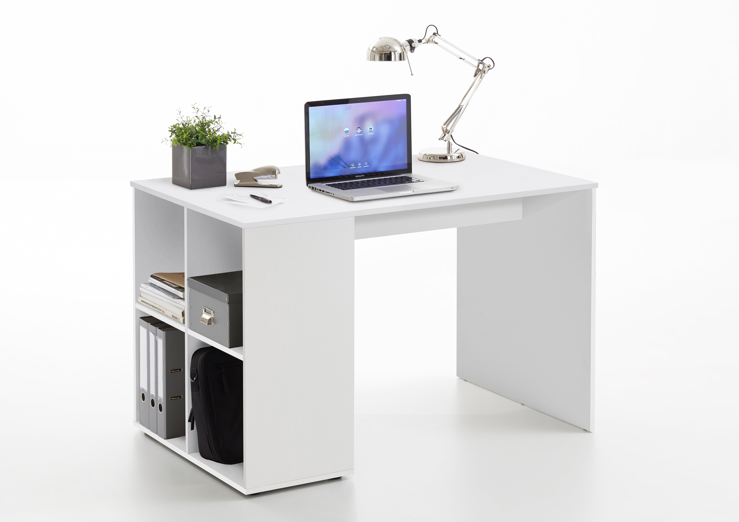 Schreibtisch büro weiß  Schreibtisch Computertisch Tisch Büro Weiß Sandeiche | eBay