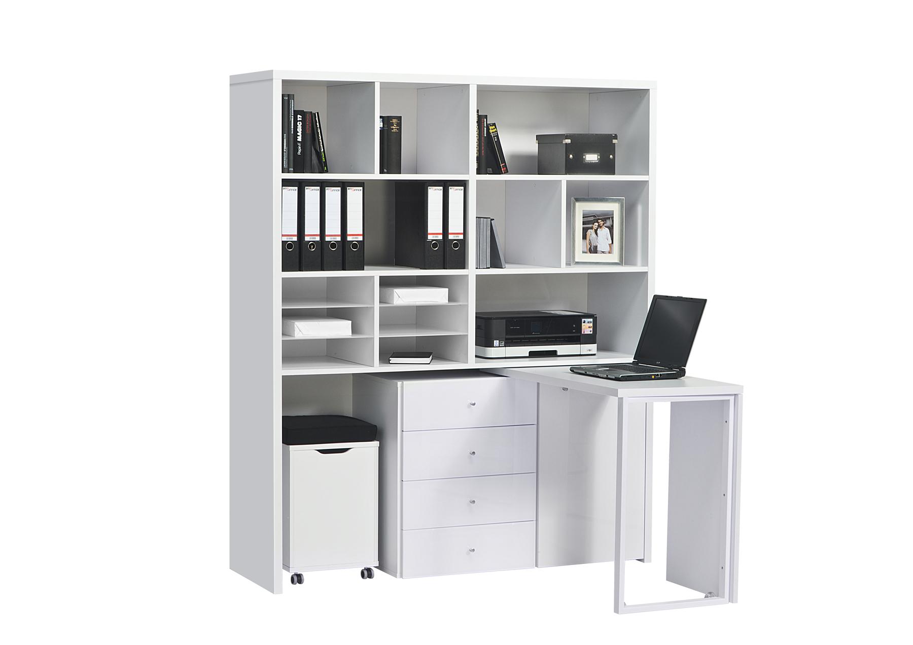 minioffice schreibtisch regal hocker kombination mod mj131 icy wei wei glas ebay. Black Bedroom Furniture Sets. Home Design Ideas
