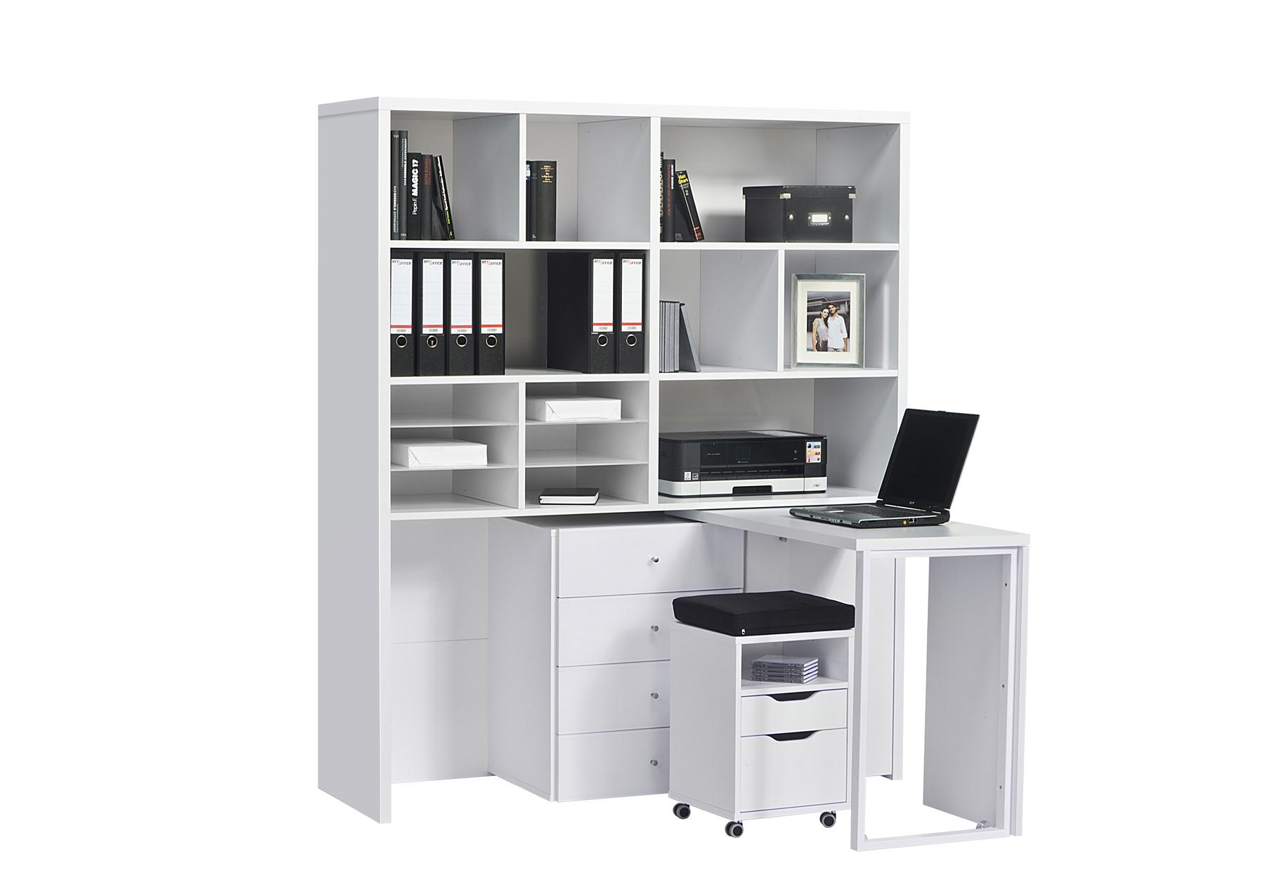 minioffice schreibtisch regal hocker kombination mod mj131. Black Bedroom Furniture Sets. Home Design Ideas