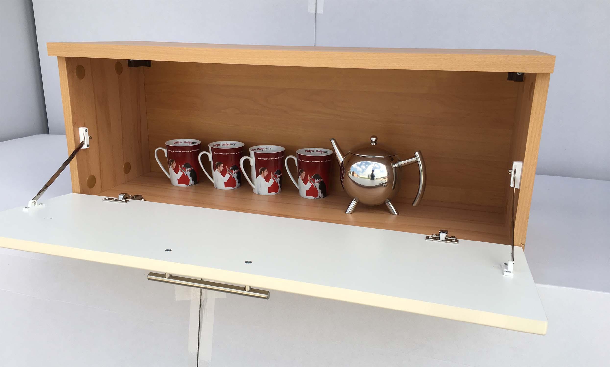 h ngeschrank wandschrank k chenschrank schrank kernbuche elfenbein hochglanz ebay. Black Bedroom Furniture Sets. Home Design Ideas