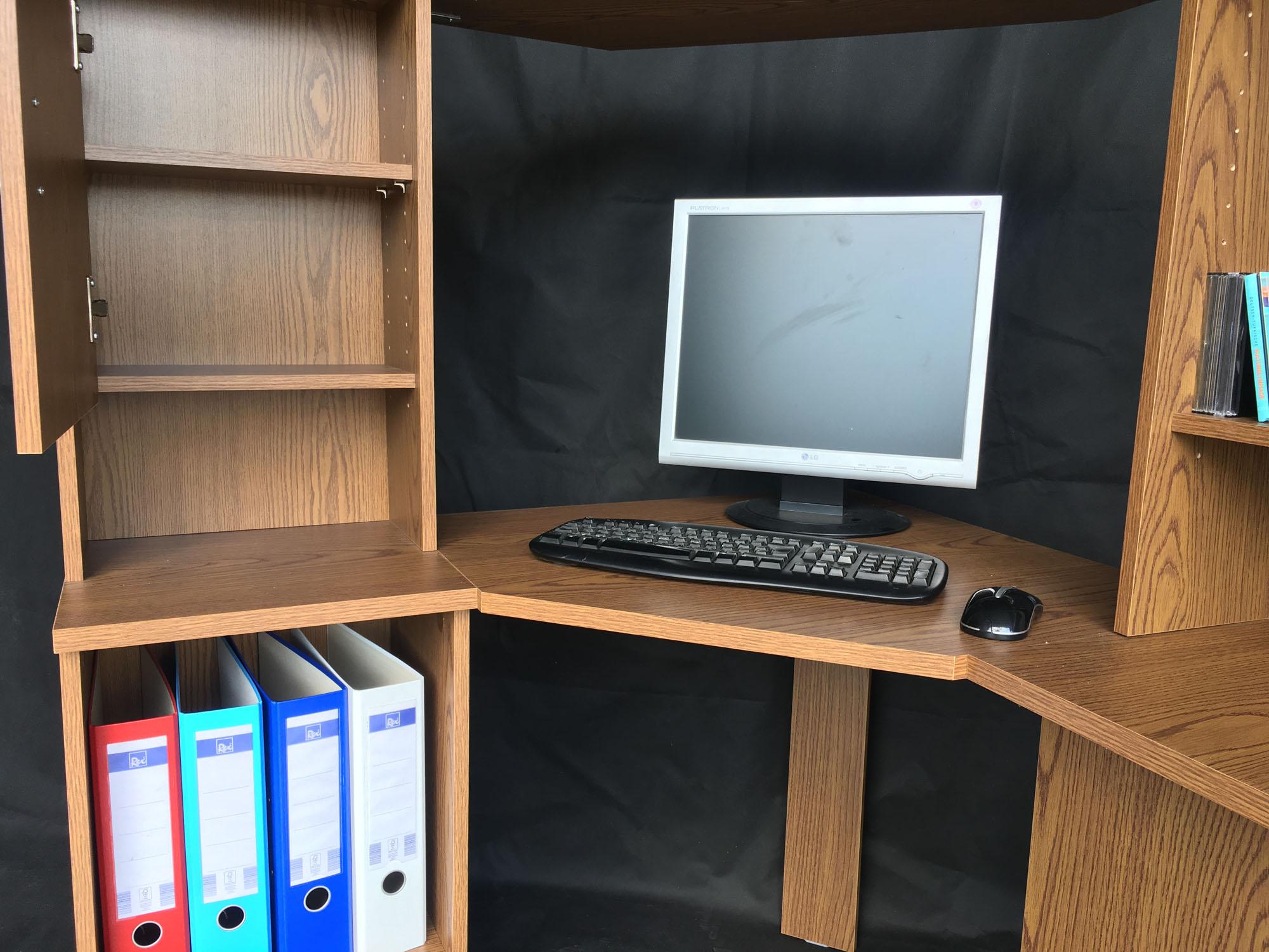 computertisch eckschreibtisch schreibtisch tisch b rotisch t202 eiche rustikal ebay. Black Bedroom Furniture Sets. Home Design Ideas