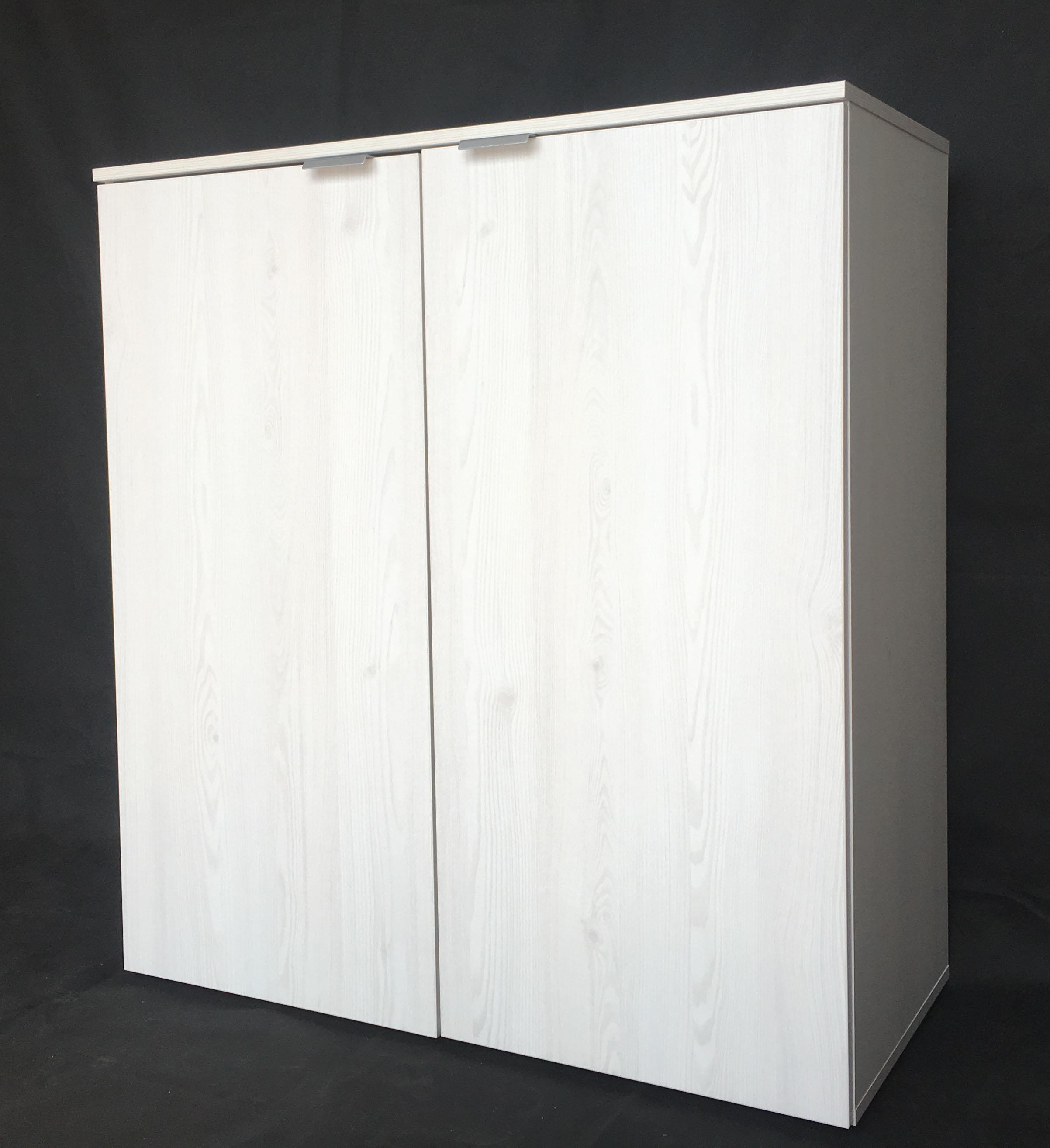kommode aktenschrank mehrzweckkommode flurkommode 2 trg wei mit maserung k641 ebay. Black Bedroom Furniture Sets. Home Design Ideas