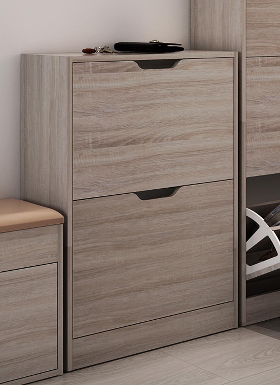 schuhschrank schuhkipper 3 kipper 2kipper schuhregal schuhablage eiche ebay. Black Bedroom Furniture Sets. Home Design Ideas